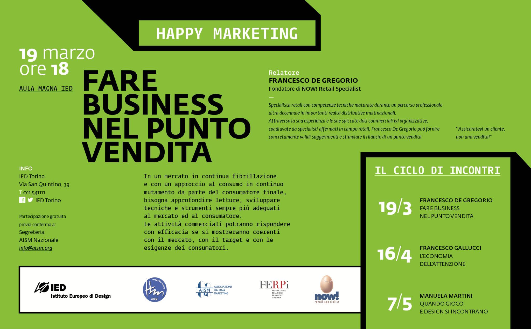 HappyMarketing_FARE BUSINESS NEL PUNTO VENDITA